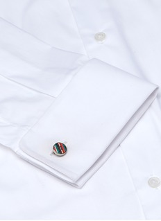 Paul Smith Stripe button cufflinks