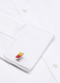 Paul Smith Basketweave stripe cufflinks