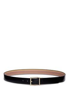Paul Smith Stripe reversible leather belt