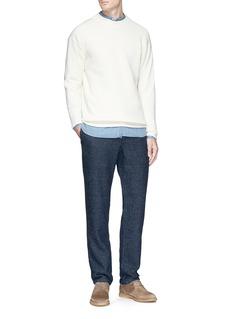 Eidos 'Band' mandarin collar chambray shirt