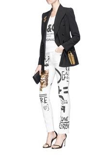 Dolce & Gabbana 'Girly' cat scribble print jeans
