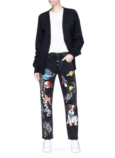 Dolce & Gabbana Cosmic and Mimmo print boyfriend jeans