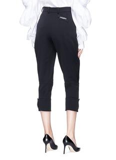 DOLCE & GABBANA 绑带裤腿低裆七分西装裤