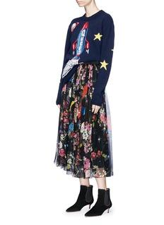 Dolce & Gabbana 'Queen' rocket intarsia virgin wool blend sweater