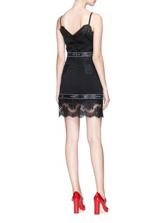 Dolce & Gabbana Guipure lace trim georgette slip dress