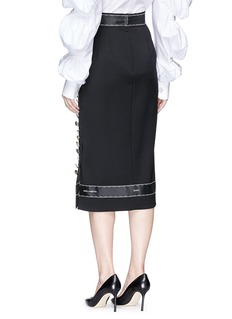 Dolce & Gabbana Mixed jewelled button midi suiting skirt