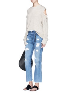 Tortoise 'Bellatula' cropped flared jeans