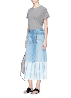 Tortoise 'Canni' cropped wide leg jeans