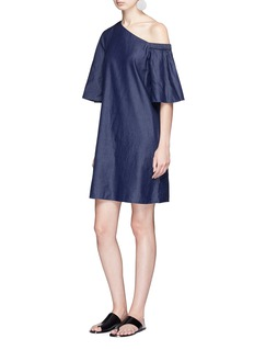 Tibi Denim one-shoulder dress