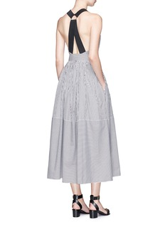 TibiStrappy back belted stripe dress
