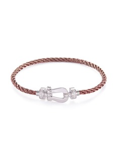 Fred 'Force 10' stainless steel medium braided cable cuff