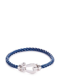 Fred 'Force 10' large braided cable cuff