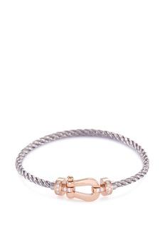 Fred 'Force 10' diamond 18k rose gold medium buckle