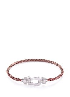 Fred 'Force 10' diamond 18k white gold medium buckle