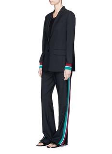 Tibi'Dempsey' double waist stripe trim suiting pants