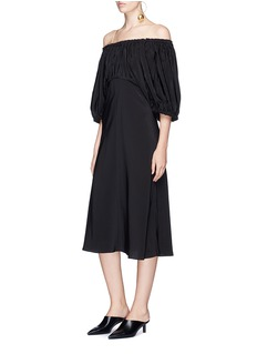 Tibi 'Sophia' silk off-shoulder dress