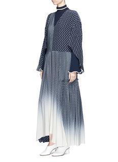 Stella McCartney 'Dominique' dégradé tie print asymmetric panel maxi dress
