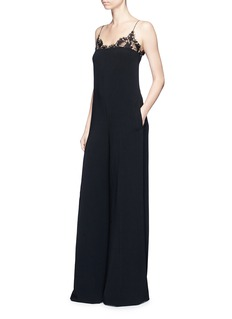 Stella McCartney 'Kara' floral lace cady wide leg jumpsuit