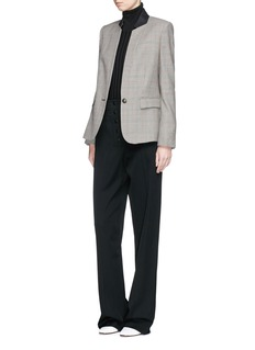 Stella McCartney Houndstooth check plaid wool suiting jacket