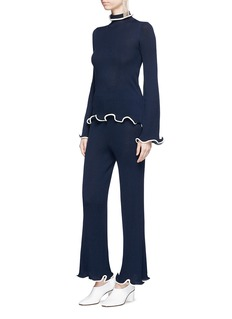 Stella McCartney Flared virgin wool knit pants