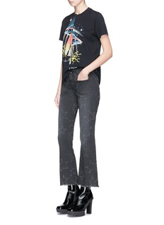Stella McCartney Asymmetric hem UFO print T-shirt