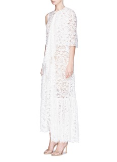 Stella McCartney 'Elena' sleeve overlay floral lace dress