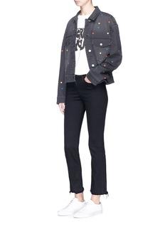 Stella McCartney Heart embroidered denim jacket