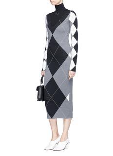 Stella McCartney Argyle wool-blend knit dress