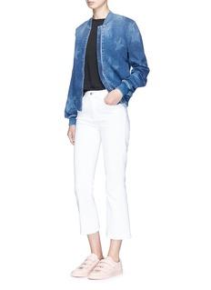 Stella McCartney Star fade motif denim bomber jacket