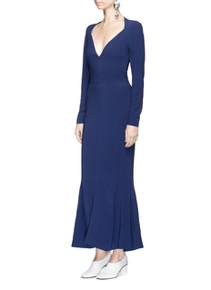 Stella McCartney 'Trudy' cady maxi fishtail dress