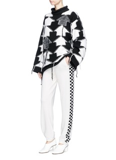 Stella McCartney Reverse geometric intarsia oversized sweater