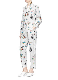 Stella McCartney 'Callie' comic print sateen pants
