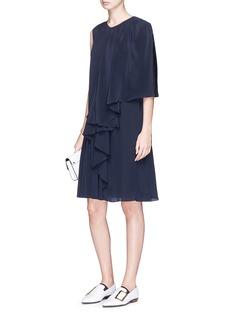 Stella McCartney 'Emmanuelle' sleeve overlay silk crepe dress