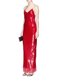 Stella McCartney 'Bernice' sequin silk crépon gown