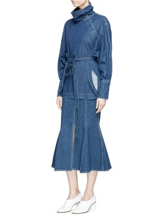 Stella McCartney 'Ivy' flared denim skirt