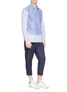 Comme Des Garçons Shirt Mix stripe layered shirt