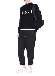Comme Des Garçons Shirt 'Boys' print mock neck sweater
