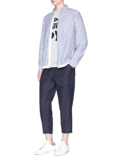 Comme Des Garçons Shirt Cropped gabardine pants