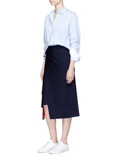 MRZBicolour asymmetric wrap skirt