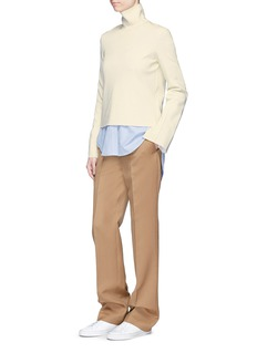 MRZ Convertible collar double faced knit sweater