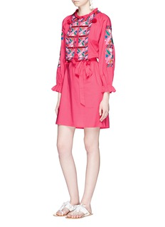 Figue 'Lou Lou' tassel floral embroidered dress