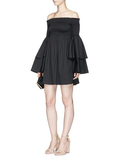 Caroline Constas 'Appolonia' tiered sleeve poplin dress