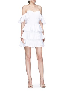 Caroline Constas 'Irene' ruffle off-shoulder poplin dress