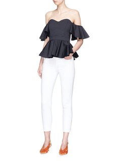 Caroline Constas 'Irene' off-shoulder poplin peplum top