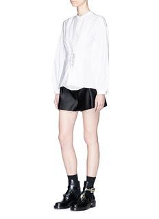 3.1 Phillip Lim'Origami' high waist belted satin shorts