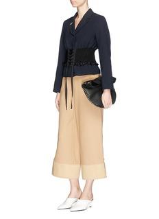 3.1 Phillip Lim Ribbon lacing corset waist double crepe blazer