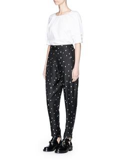 3.1 Phillip Lim Snowbird print high waist silk twill pants