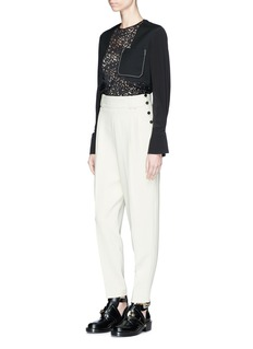 3.1 Phillip Lim 'Combo' guipure lace and crepe top