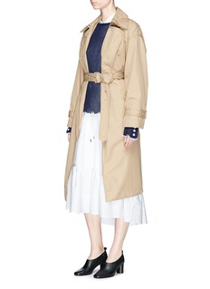 3.1 Phillip Lim Cotton twill belted trench coat