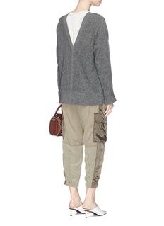 3.1 Phillip Lim V-back faux pearl cuff sweater